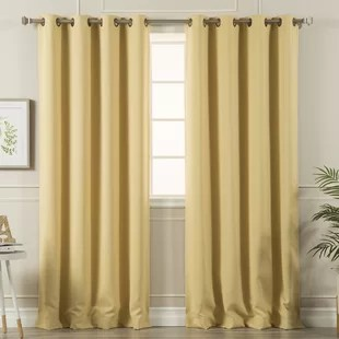 blackout thermal grommet curtain panels set of 2