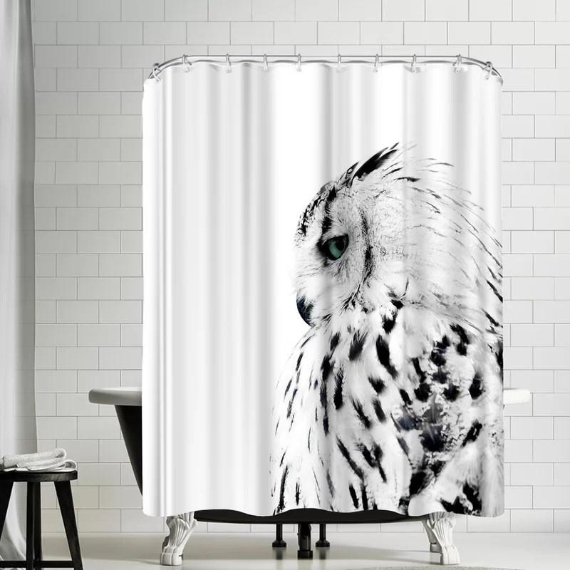nauda owl shower curtain