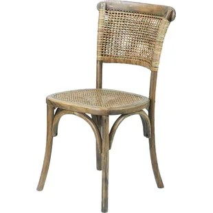 dining chairs with caning swivel chair villain cane wayfair set of 2