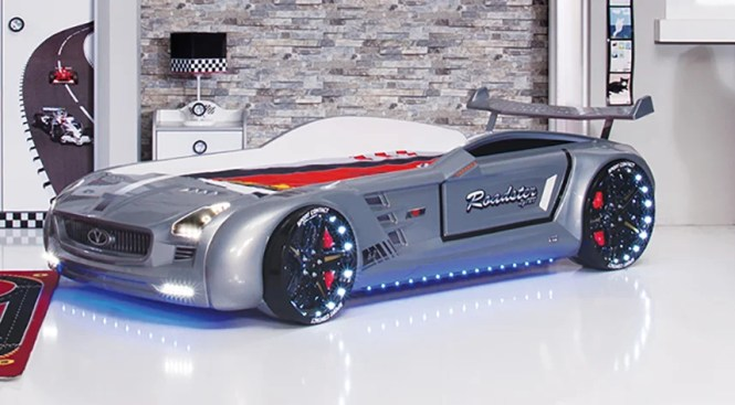 Roadstar Racing European Twin Car Bed With Foam Mattress