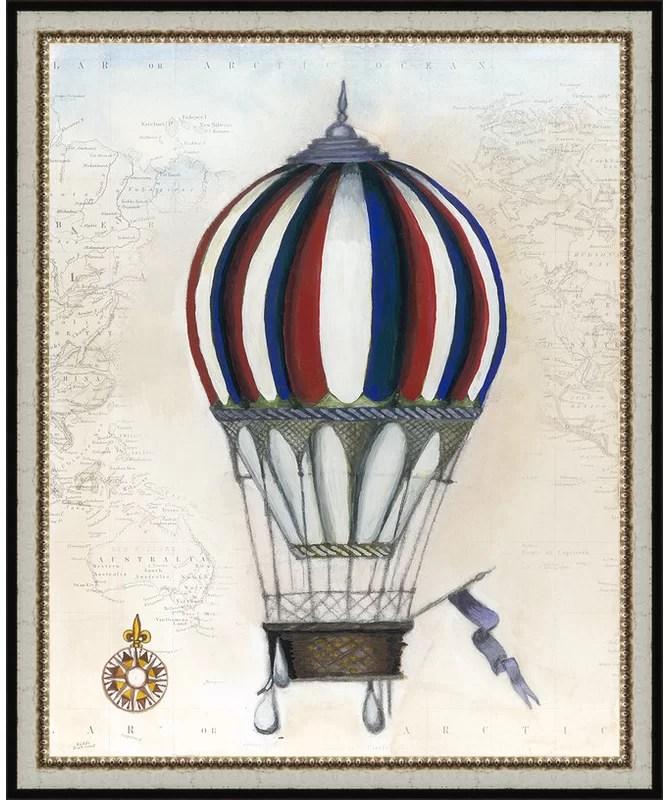 Trends Vintage Hot Air Balloons VI Framed Graphic Art
