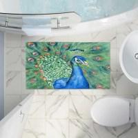 Peacock Bathroom Rug - Frasesdeconquista.com