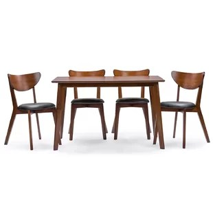 modern tables and chairs toilet desk chair contemporary dining room sets allmodern serpens 5 piece set
