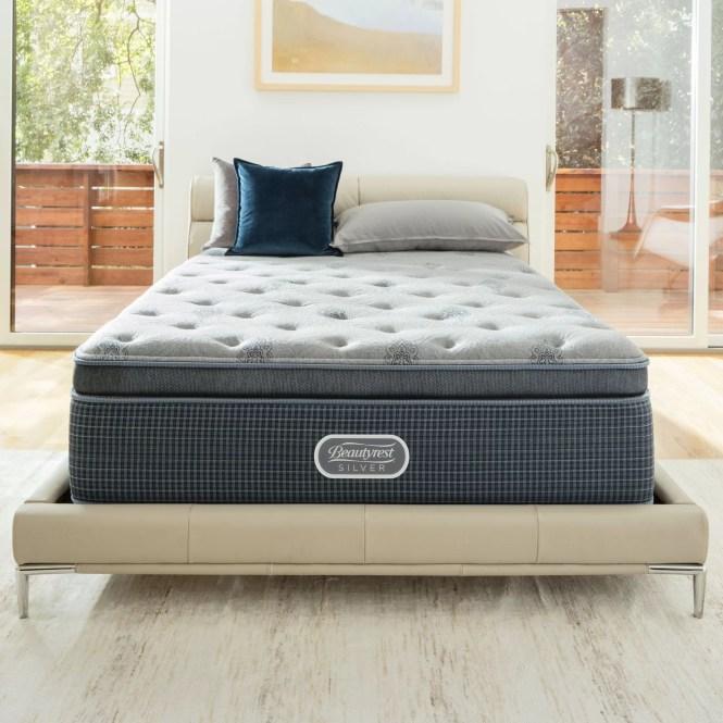 Simmons Beautyrest Beautysleep 13 5 Plush Pillow Top Cooling Gel Memory Foam Mattress Set Reviews Wayfair