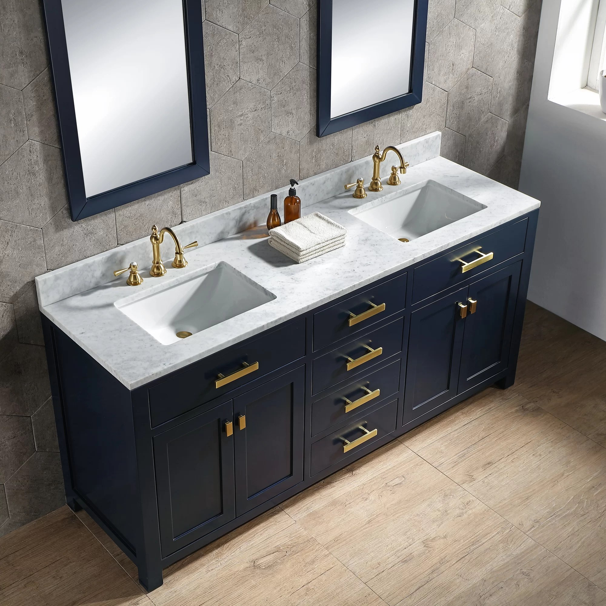 Rosecliff Heights Crisler 72 Double Bathroom Vanity Set Reviews Wayfair