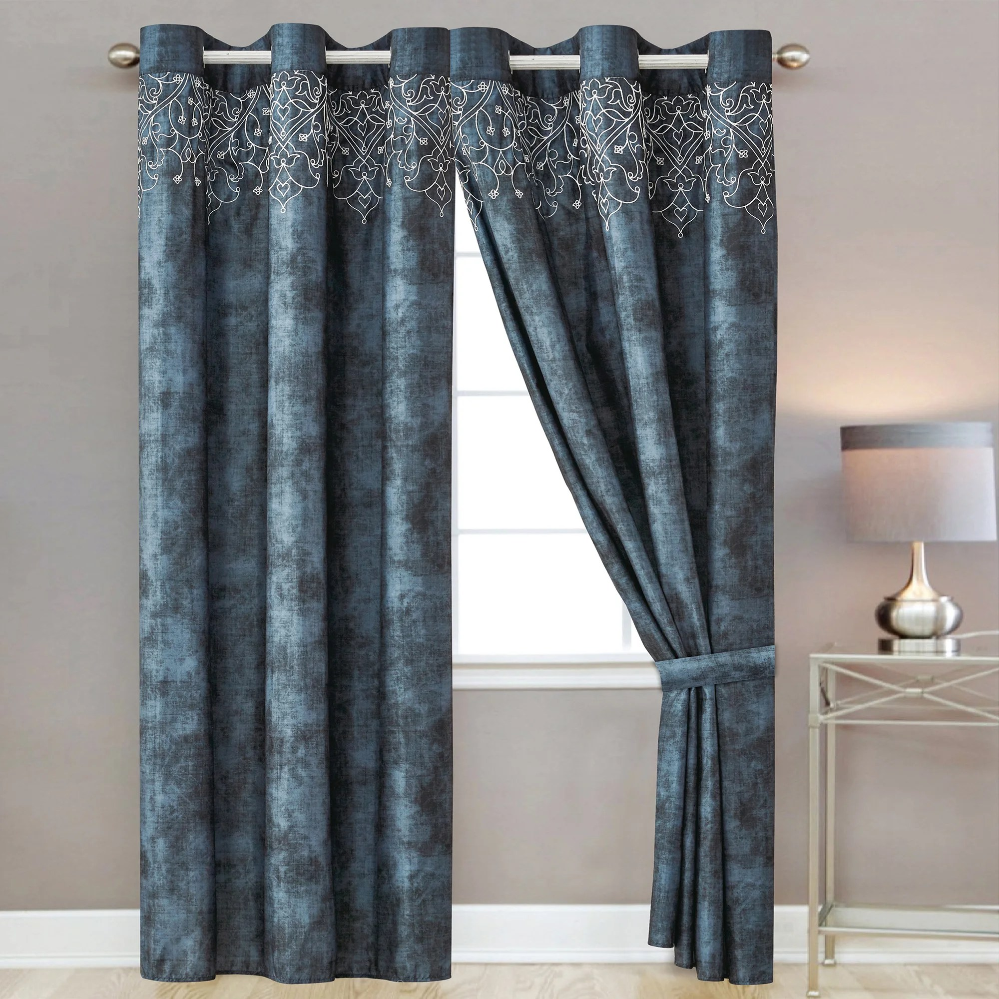 cloughmills blackout thermal grommet curtain panels