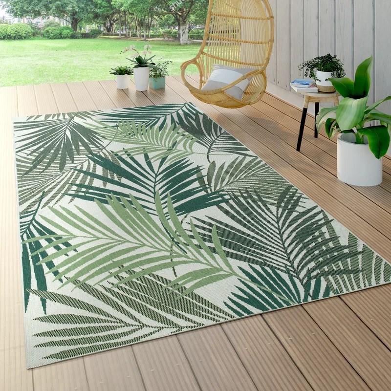 Leilani Floral Green Indoor / Outdoor Area Rug