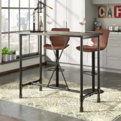 Bar Height Tables And Chairs Teak Dining Indoor Modern Pub Allmodern Melody Table