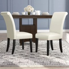 Small Scale Upholstered Dining Chairs Who Reupholstered Wayfair Quickview