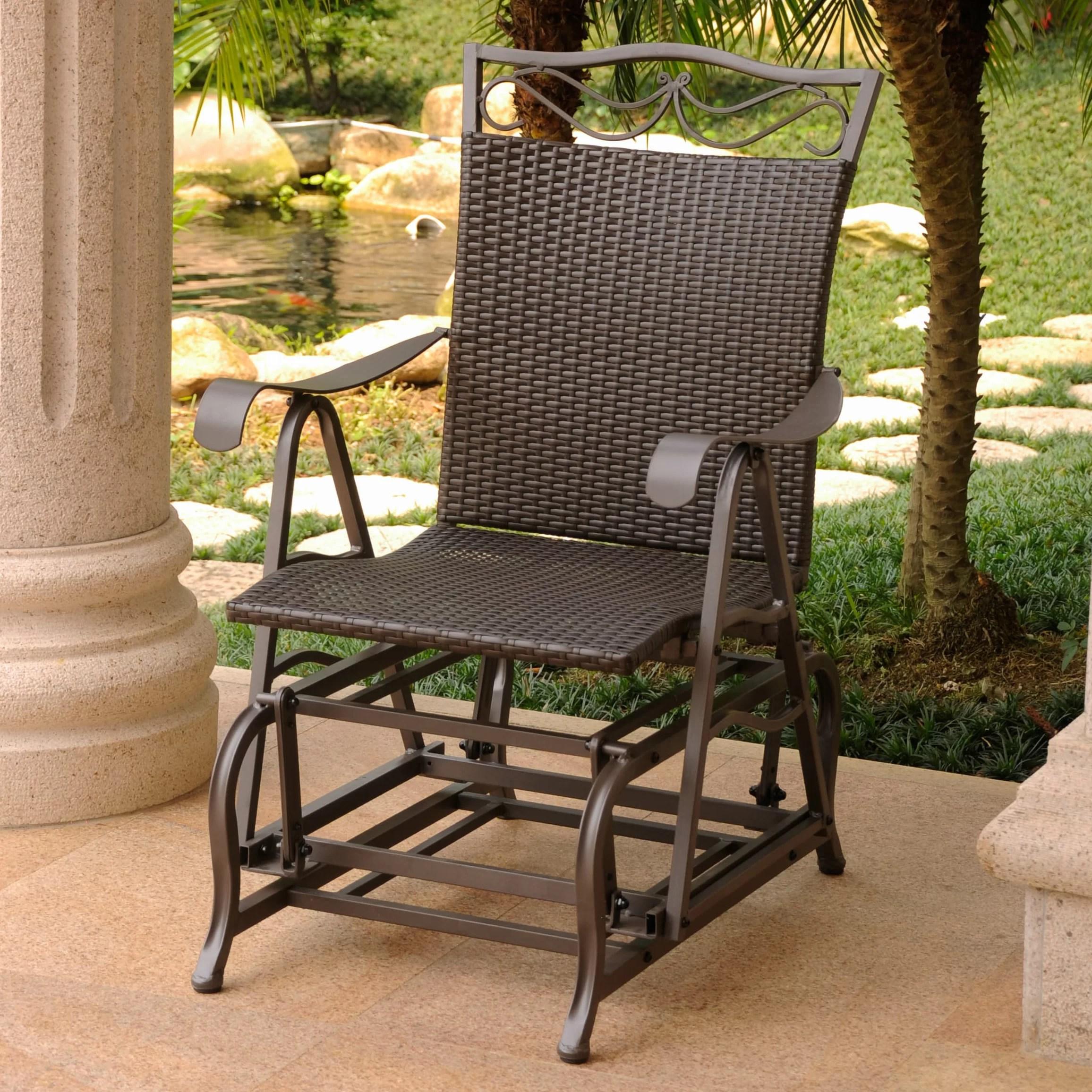 stapleton patio glider chair