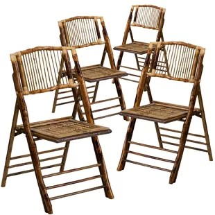 folding wooden chairs iron outdoor melbourne you ll love wayfair american champion wood chair set of 4