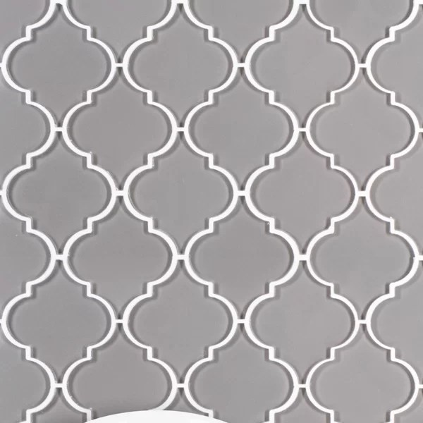 gray arabesque tile