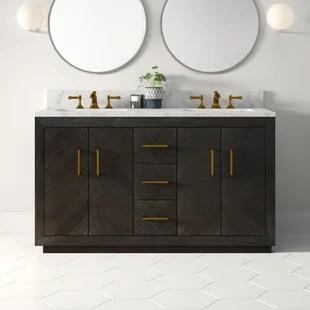 kolton 60 double bathroom vanity set