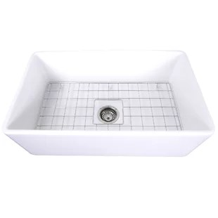 kitchen sink grates for rent modern contemporary grids allmodern cape 30 l x 18 w farmhouse with grid