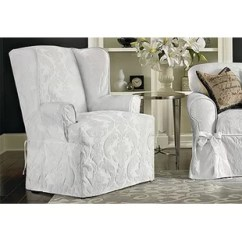 Loose Covers For Queen Anne Chairs Dining Room Clearance Wing Chair Slipcovers You Ll Love Wayfair Quickview