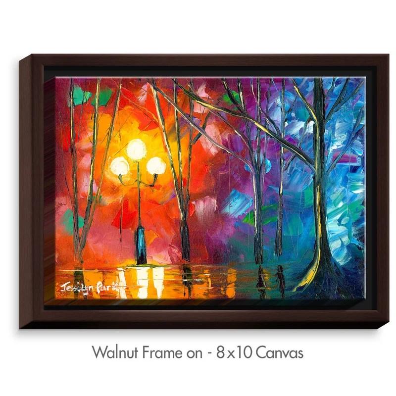 Rainy Rendevous Painting Print Size: 17.75 H x 21.75 W x 1.75 D Frame Color: Walnut