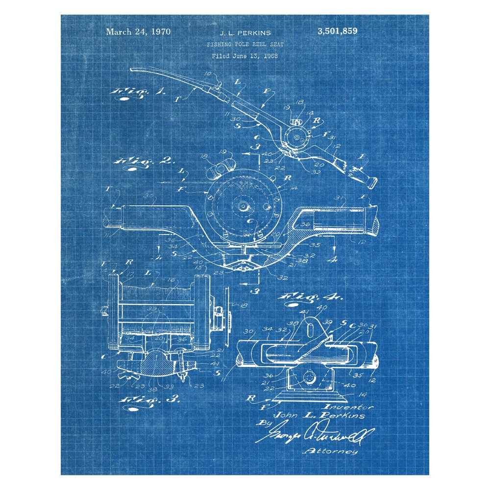 medium resolution of williston forge fishing pole reel graphic art print on wrapped canvas wayfair