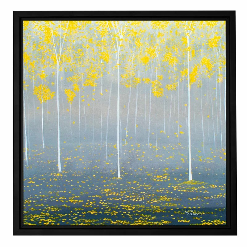 Verda Forest 2 by Herb Dickinson Framed Graphic Art on Wrapped Canvas Size: 36 H x 36 W