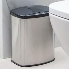 brushed nickel trash can wayfair