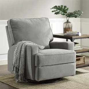 small swivel chair game chairs with speakers rocker wayfair aisley reclining glider
