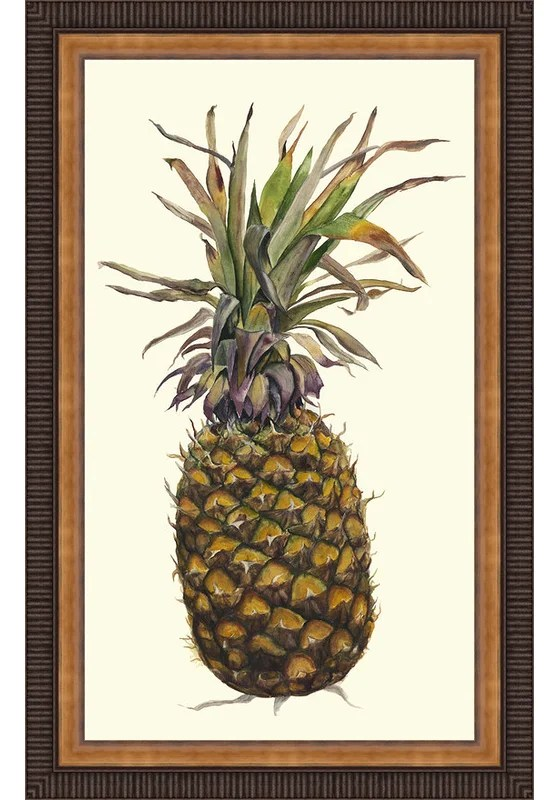 Trends Pineapple Study I Framed Painting Print