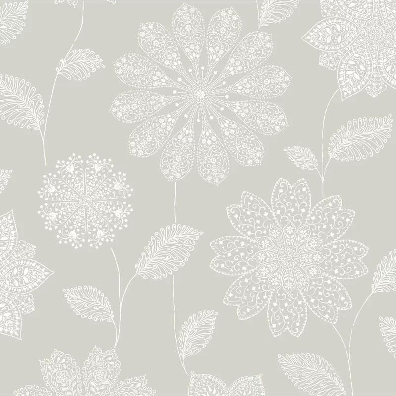 17 Stories Panache Floral 10m x 52cm Wallpaper Roll