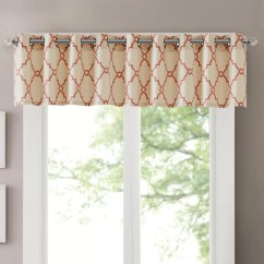 Grommet Kitchen Curtains Hickory Shaker Style Cabinets Eyelet Ivory Cream Valances You Ll Quickview