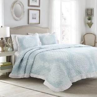 dark blue bedspread wayfair