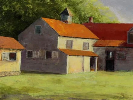 Summertime Farm by Susan Fehlinger Painting Print on Wrapped Canvas Size: 18 H x 24 W x 1.5 D