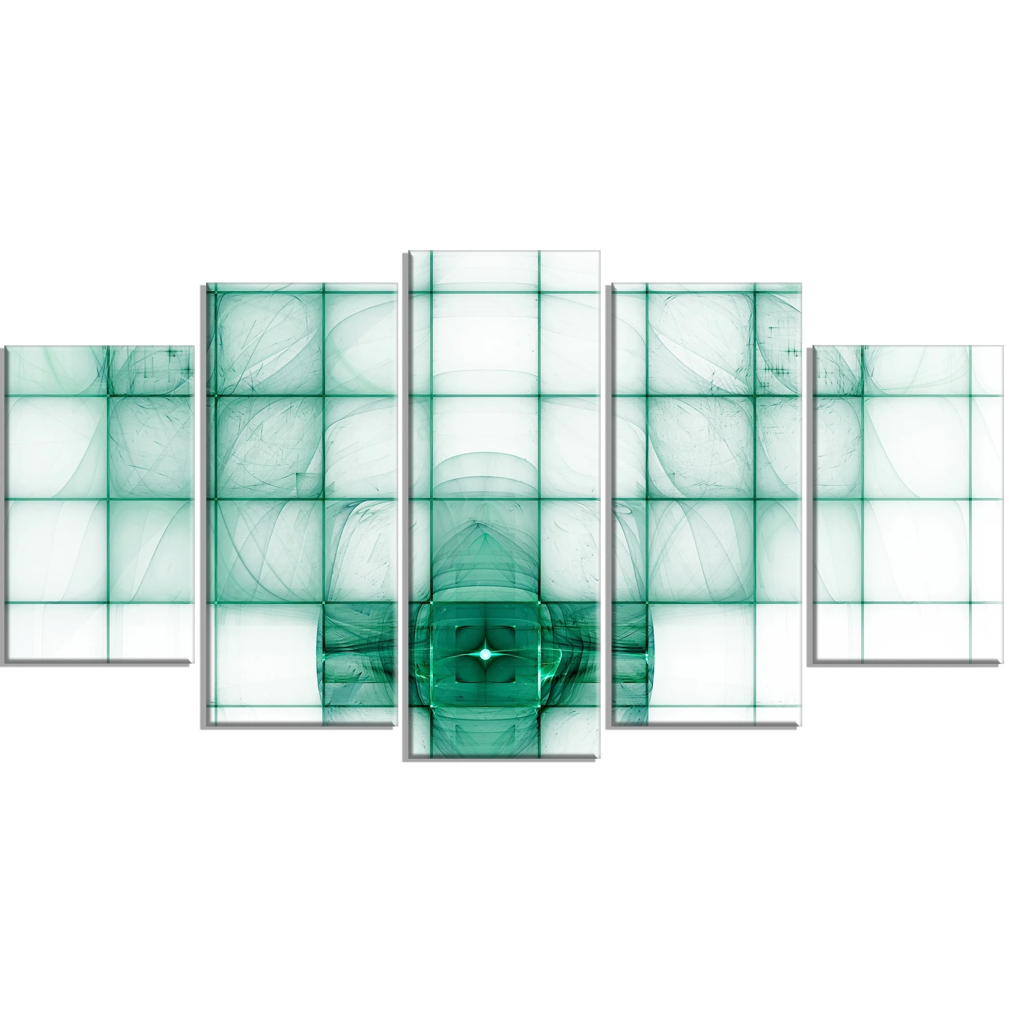 Designart Light Blue Bat On Radar Screen Graphic Art