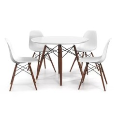 Modern Tables And Chairs Ergonomic Chair To Fix Posture Contemporary Dining Room Sets Allmodern Brook 5 Piece Set