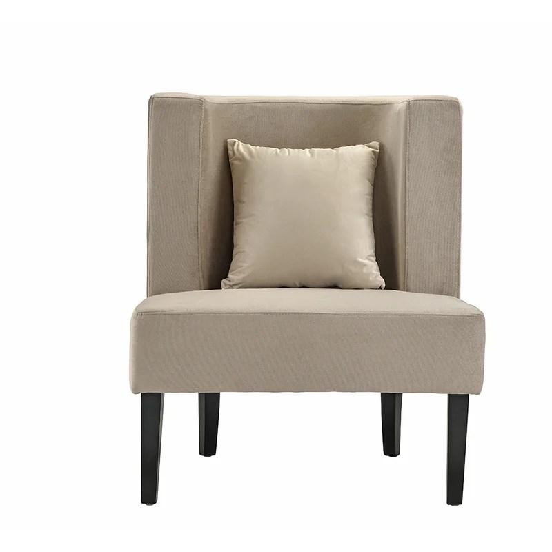 grey velvet slipper chair indoor double chaise lounge ebern designs fallston upholstered wayfair
