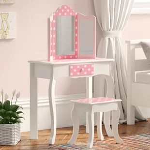 kadence dressing table set with mirror