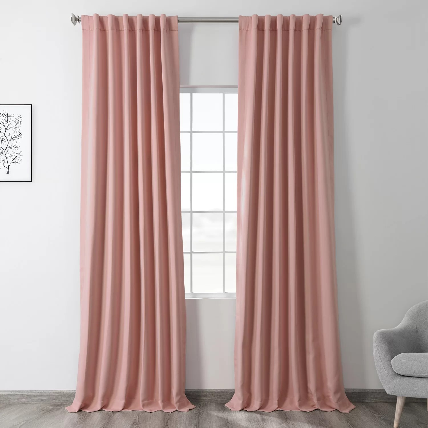 pink rod pocket curtains drapes you