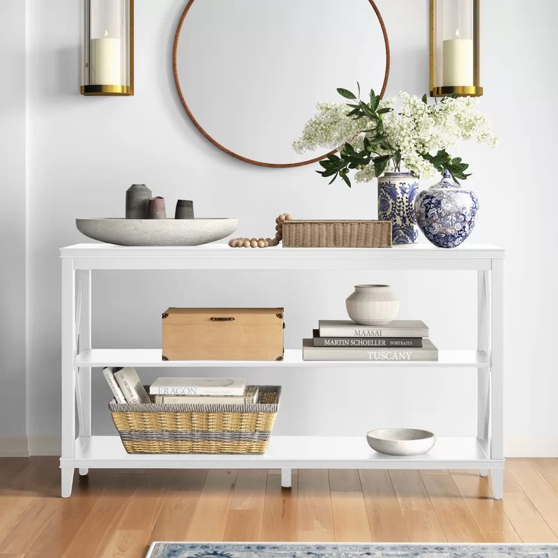 Sofa Console Table With Stools