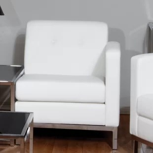 white tufted chair parts leather wayfair quickview