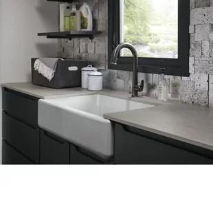 cast iron kitchen sinks countertops grand rapids mi you ll love wayfair quickview