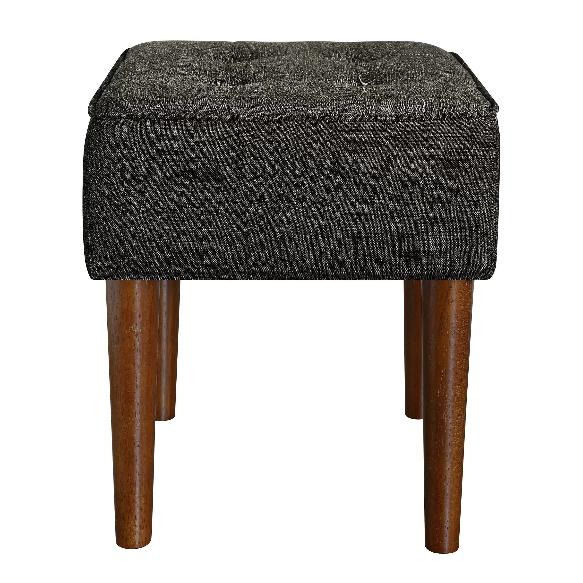 Tufted Vanity Chair Aria Square Tufted Vanity Stool
