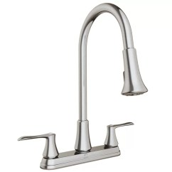 Kitchen Faucet Spout Rustic Pendant Lighting Keeney Manufacturing Company Pull Down Double Handle With Swivel And Integrated Hand Spray
