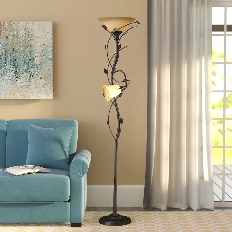 living room floor lamp suites lamps you ll love wayfair crystal 72 led torchiere