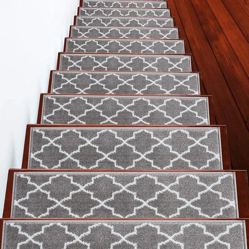 Charlton Home® Gladiolus Trellis Vibrant And Soft Stair Tread | Wayfair Carpet Runners For Stairs | Tucker Murphy | Brown Beige | Hallway Carpet | Wool Rug | Wall Carpet