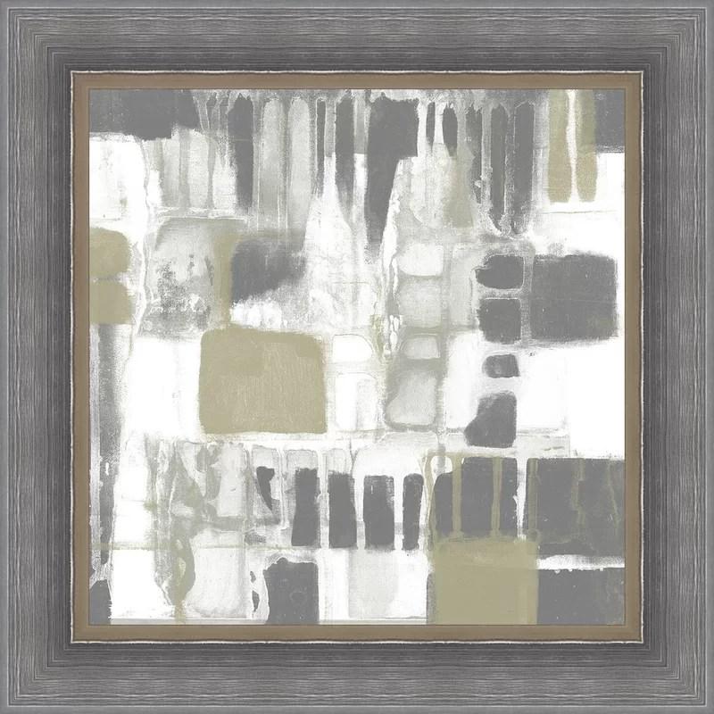 Trends Neutral Quadrants I Framed Painting Print