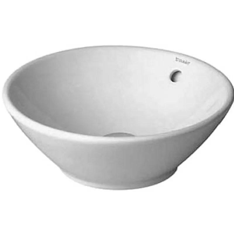 Bacino Ceramic Circular Vessel Bathroom Sink with Overflow
