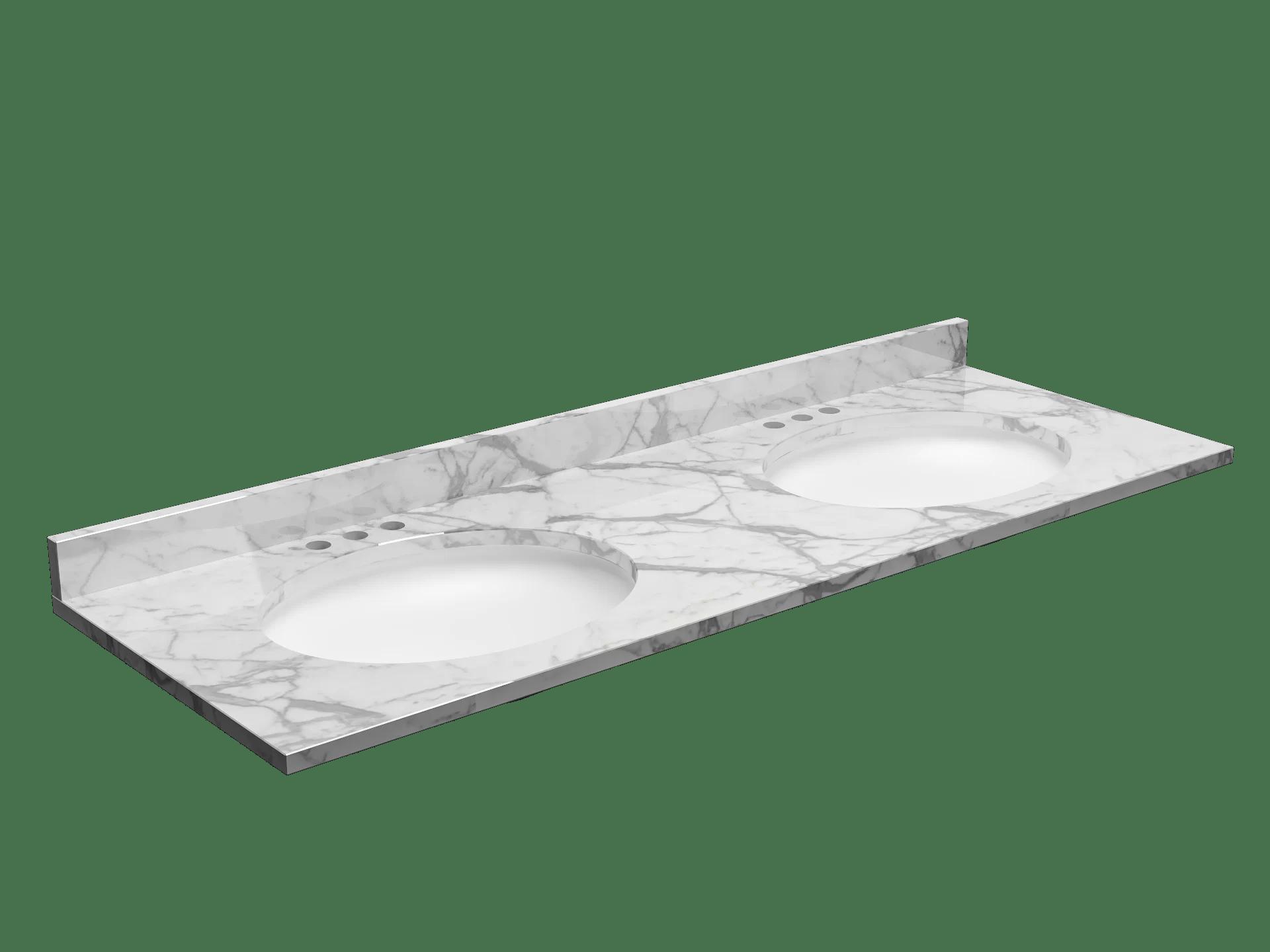 61 granite double bathroom vanity top