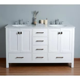 60 inch double vanities you'll love | wayfair