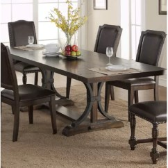 Pedestal Kitchen Table Portable Island With Stools Farmhouse Dining Tables Birch Lane Keshia Extendable