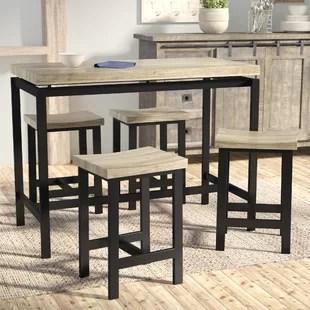 high top kitchen table set ikea metal shelves pub sets tables bistro you ll love bourges 5 piece