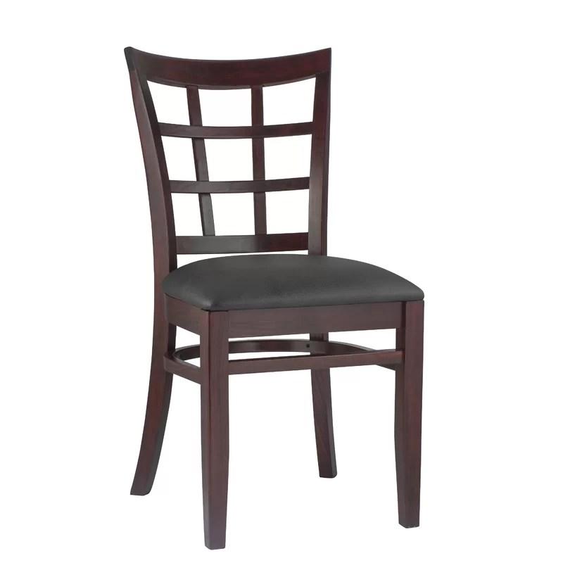 Side Chair Finish: Dark Mahogany