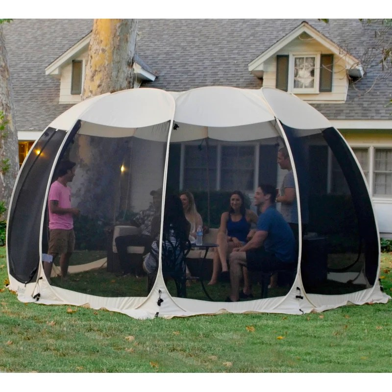 alvantor screen house 15x15 room pop up gazebos outdoor camping tent canopy 4 15 person for patios
