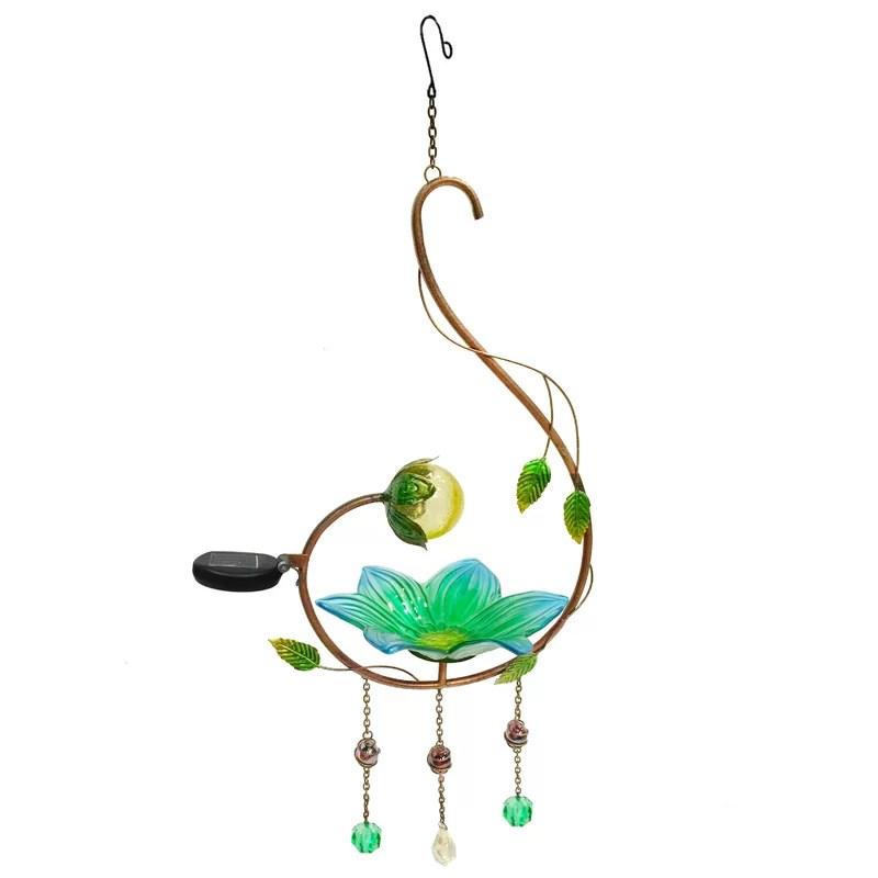 Solar Decorative Bird Feeder Color: Sea Green